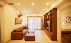 Wooden Style Two Bedroom Apartment For Rent in Masteri Thao Dien District 2 HCMC
