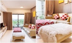 Garden View With Modern Furniture Masteri Apartment For Rent in Ho Chi Minh City