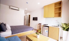 Clean And Nice Balcony Studio Apartment in District 3 Ho Chi Minh City