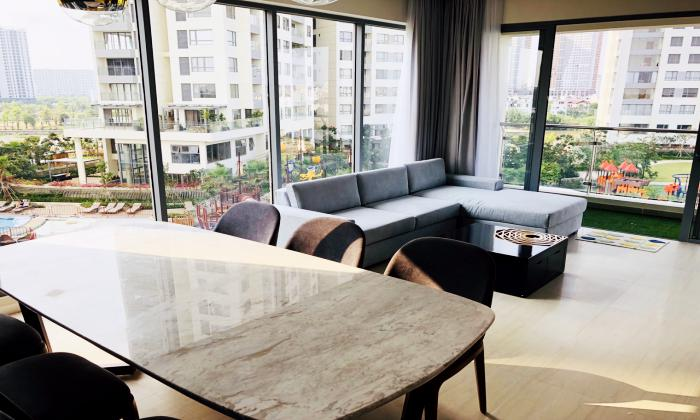 Pool View Of Three Bedroom Apartment in Diamond island District 2 HCMC