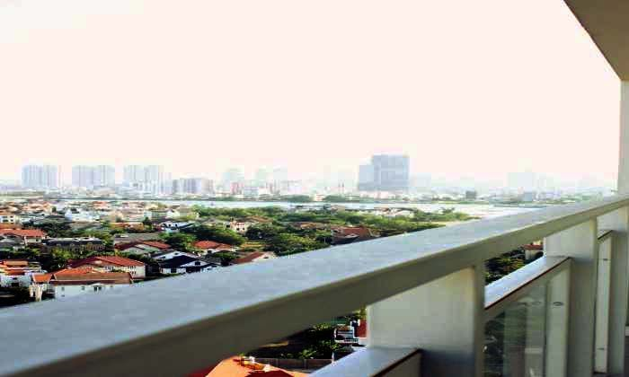 Unfurnished 3 Beds/$1300 River Garden Apartment For Rent Dist 2, HCMC.