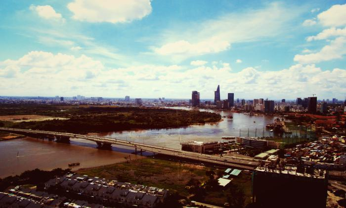 Stunning View of Saigon River Three Bedrooms Apartment For Rent