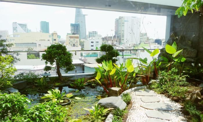 Modern Serviced Apartment For Rent With a Big Garden, Dist 1 HCMC