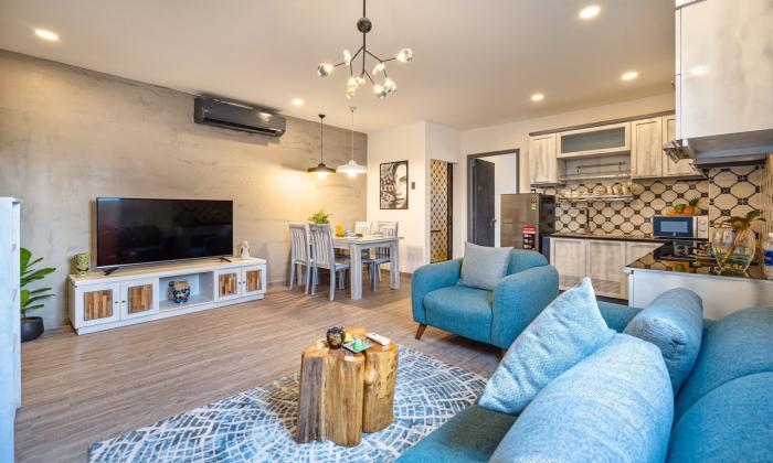 Two Bedroom Apartment Big Balcony Garden Apartment For Rent in Dakao District 1 HCMC