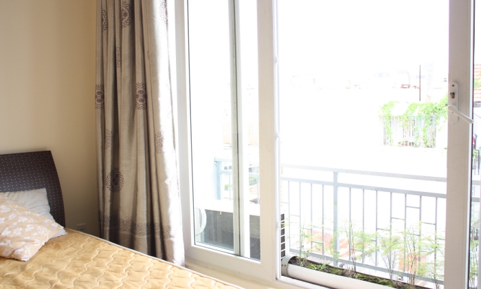 Serviced Apartment  For Rent with A Big Balcony, District 3, HCMC