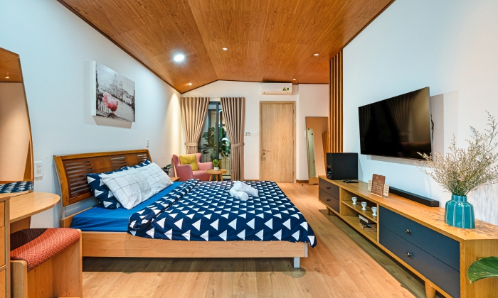 Amazing Decoration And Spacious One Bedroom Serviced Apartment For Rent in Binh Thanh District HCMC
