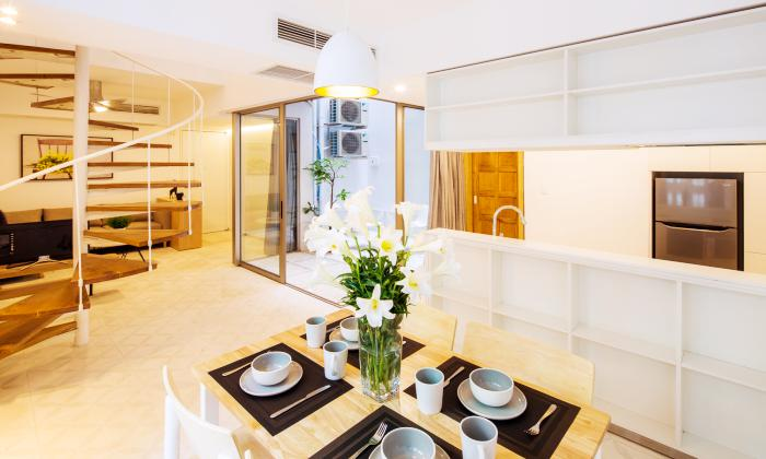 Wonderful Duplex One Bedroom Apartment For Rent in Bach Dang Street Tan Binh District HCMC