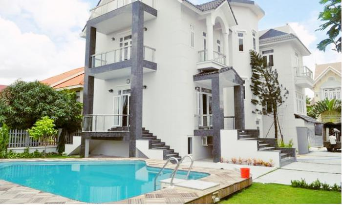 Modern Villas For Rent in Compound, Thao Dien District 2 HCMC