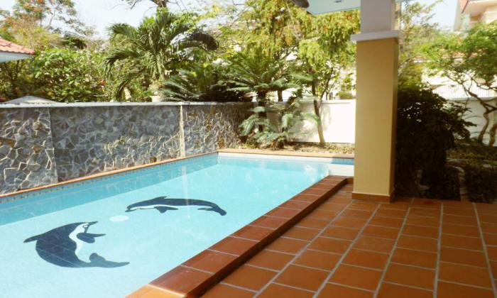 Big Swimming Pool Villa For Rent in Thao Dien District 2 HCMC