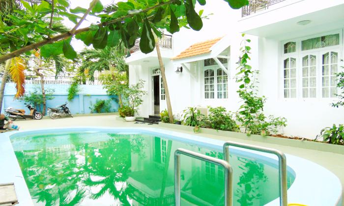 Big Pool Gardening Villa For Rent in Thao Dien District 2 Ho Chi Minh City