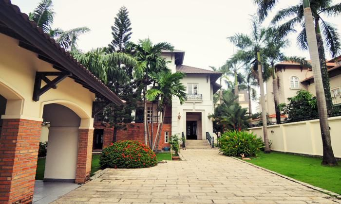 Spacious Villa For Rent In Thao Dien Area, District 2 With Partly Furnished